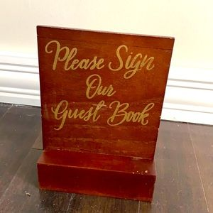 Please sign our guest book wooden sign